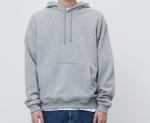[R] AECA WHITE Finest Cotton Pullover Hoodie Grey 1ea
