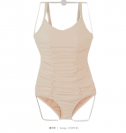 [R] Body Correction Reverse Back Strap Pleated One Piece Swimsuit 1ea