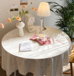 [R] MELLOW MOMENT Baby Tulip Tablecloth - Ivory 1ea