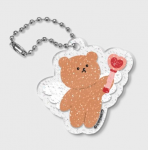[R] EAR PEARP Dot Angel Bear Glitter Key Ring 1ea