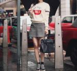 [R] MILK COCOA Victoire Girls Sweatshirts Amelie Line 1ea