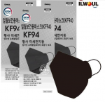 [R] ILWOUL KF94 Black Mask 100ea