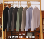 [R] MILK COCOA Amelie Line Everyday Turtleneck Tee 1ea