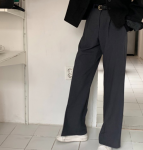 [R] FEMINIQUE Adiel Slacks (2color) 1ea