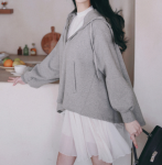 [R] MILK COCOA Amelie Line Everyday Hoodie 1ea