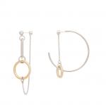 [R] VIOLLINA Unbalance Ring Earring 1ea