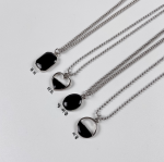 [R] Black Onyx Necklace 1ea