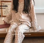 [R] JUUNEEDU La Vie en Rose Lace Pajama 1set
