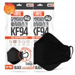 [R] KF94 Black Mask 5ea*2