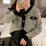 [R] BENITO Tweed Cardigan 1ea