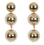 [W] DARKVICTORY Three Sphere Earrings