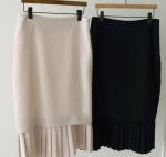 [R] Pleitz Skirt #beige-M