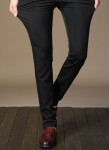 [R] Men Slacks Big Size Pants Man Date Pants Suit Spring / Autumn MPS05_BLACK + 32