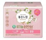 [Online Shop] GOODFEEL Organic Pure Cotton Sanitary Pad (Slim Wing - Medium) 14p*2ea