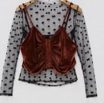 [R] CHUU Sun Shining blouse+bustier set