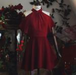 [R] MILKCOCOA Amelie dress line.RED Romantic noir dress