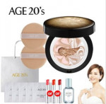 AGE20\'S Essence cover pact _Gold Black Set (Case1+Refill2+Puff2+Serum1+Lipstick1)