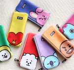 BT21 2-way zipper pencil case 1ea