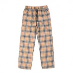 [R] Basemonent Nova check Flannel Pants Beige