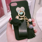 [R] Flower Leather Strap Tassel Case For I Phone5SE