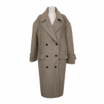 [R] STYLENANDA Soft Blend Check Double Long Coat