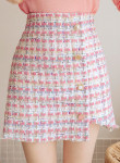 [R] CHLODMANON Button mini skirt #PINK