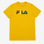 [R] FILA MULTI-COLOR LOGO TEE - YELLOW