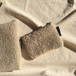 [R] 10X10 Beige Cloud Wool Pouch (ORDER-MADE)