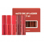 ETUDEHOUSE Matte Chic Lip Lacquer Mini Set  2.5gx5