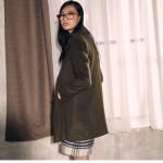 [W] ELANDMALL CLOVIS CLASSIC PEA COAT Khaki Size 85