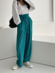 [R] MUTJJOO Tulip High Pleated Banding Pants
