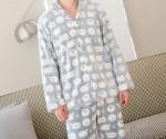 [R] Dreamingu Men\'s dreamland microfiber long sleeve top and bottom pajamas