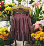 [S] MILKCOCOA Manhattan Hull Flare Skirt #Pink Color 1ea