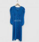 [R] Lagirl Eli pattern puff dress-ops# Blue