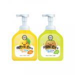 [HAPPY BATH] Antibacterial Bubble Handwash (lemon, citron) 500ml