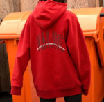 [W] W CONCEPT Andersson Bell Unisex Arch Slogan A.Patch Hoodie atb174u(M/Red)