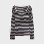 [R] MIXXO Squareneck Stripe Knit 1ea