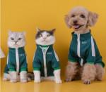 [R] Squid Game Kanbu Dog Cat Clothes Short Sleeve Sweatshirt