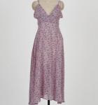 [R] DABAGIRL Floral Plunging Neck Dress