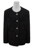 [R] MAYBEBAYBY Angele tweed jacket black color 1ea