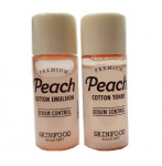 [S] Skinfood  Premium Peach cotton toner 5ml+emulsion5ml