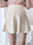 [W] Some Days Flare Mini Skirt (S size , beige) 1ea