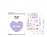 [R] ZEEZEEPLANET Custom Puple Heart Tok Set 1set