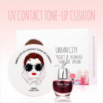 URBAN CITY UV Contact Tone-up Cushion SET (Bloom Rose Lip&Cheek  free tint)