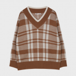 [R] MIXXO V-Neck Check Sweater 1ea