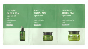 [S] INNISFREE Green Tea Night Care Kit (2ml+2ml+2ml)*5ea