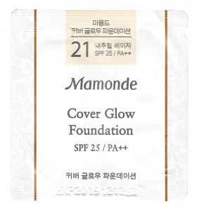 [S] MAMONDE Cover Glow Foundation  21 Natural Beige SPF25/PA++ 1ml*10ea