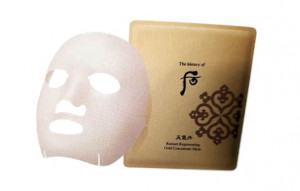 The History of Whoo Cheongidan Hwahyeon Gold Ampoule Mask 6sheets