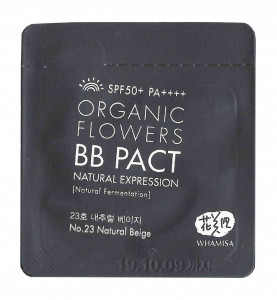 [S] WHAMISA Organic Flowers Natural Expression BB Pact SPF50+ PA++++ 1ml*10ea