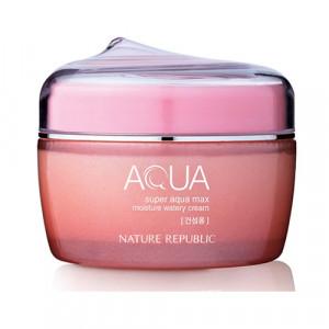 NATURE REPUBLIC Super Aqua Max Moisture Watery Cream 80ml (Pink)